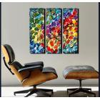 Image of 3 Splashy Rainbow Paintings - Custom Painted for You.