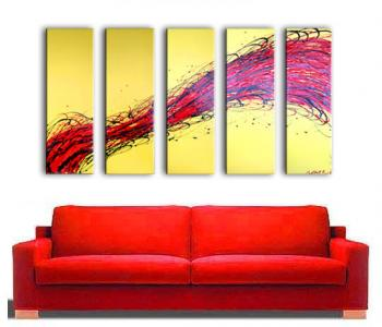 Image of Stroke of Genius BRIGHT YELLOW Fire RED