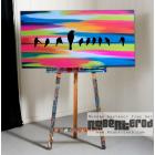 Image of Neon Bird Sunset 48x24