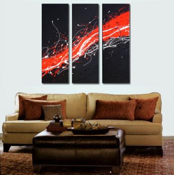 Image of Sale - 3 infinity 3 till blackmuholland midnight drive abstract paintings