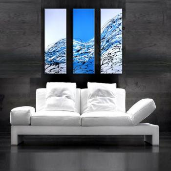 Image of Sale  $99- 3 Infinity Blue Streak of Success Art Abstract Paintings