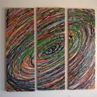 Image of Sale - 3 Piece Beachy Art  Green Blue Indiglo Vertigo